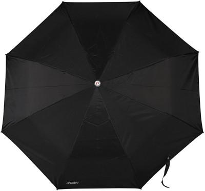 Bizarro Plain 3-Fold Heavy Quality Umbrella(Black)