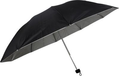 AAA 3 Fold Plain Umbrella(Black)