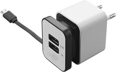 Shrih SH   0595 2 Port Travel Dual USB Adapter White