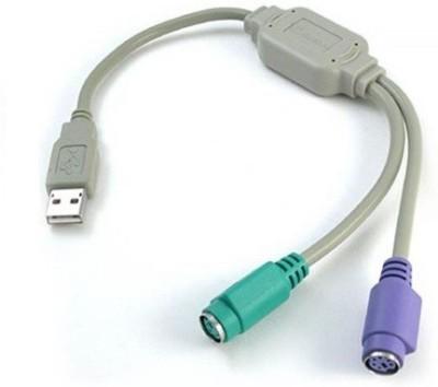 TechGear Usb To Ps/2 USB Adapter White, Purple, Green