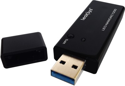 Leoxsys LEO-NANOAC1200 WiFi 11AC Dual Band 1200mbps Wireless USB Adapter(Black)  available at flipkart for Rs.1290