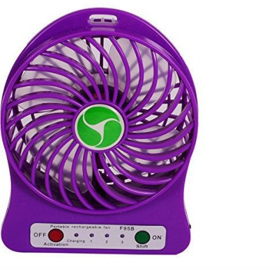 Shrih Portable Mini Rechargeable Battery Operated SH-1102 USB Fan(Purple)