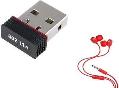 Terabyte Wifi Dongle 802.11n Wi Fi 2.4GHz Wireless LAN Network Card External PC Desktop Laptop USB Adapter Black Terabyte Wireless USB Adapters