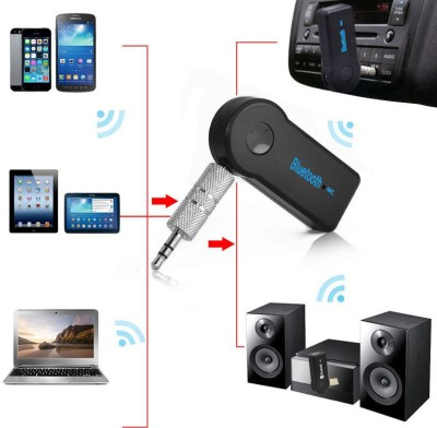 VibeX VBX-106 ™ Wireless 4.1 Car Receiver 3.5mm Music Stereo Aux Audio Speaker Adapter Bluetooth(Black)