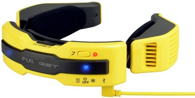 Doel G2T N1 PLUS Wearable Electric Scarf (WARM/COOL) Personal AC Portable Air Conditioner with 7800 mAh Power Bank G2T N1 PLUS USB Cable(Yellow)