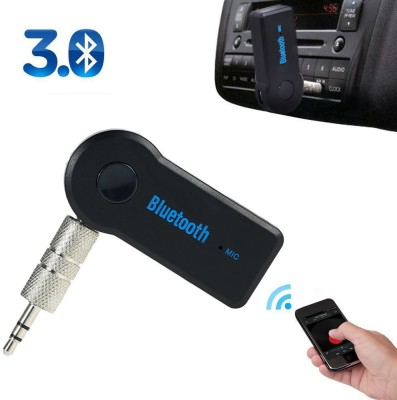 VibeX VBX-105 ® Wireless 3.5mm AUX Audio Stereo Music Home Car Receiver Mic Adapter Bluetooth(Black)