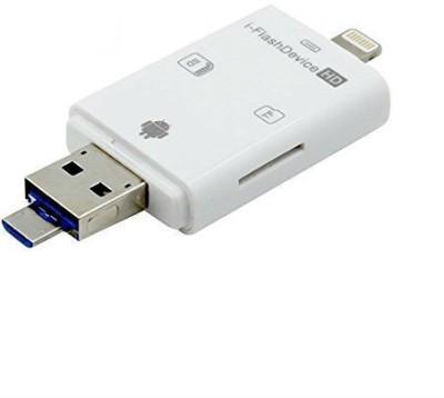 Shrih USB 8 pin Port Flash Drive Memory Stick SH   02776 Card Reader White