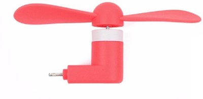 Heartly iPhone   Android Phone 2 In 1 OTG Mini USB Cooling Portable Fan_3 USB Fan Red Heartly Mobile Accessories