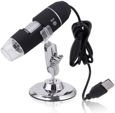 Shrih 8 LED Light Digital Endoscope Camera Magnifier Zoom Microscope SH   02567 USB Cable Black
