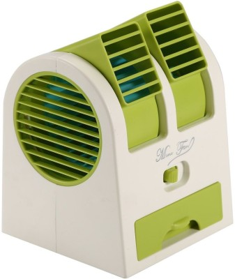 VibeX VBX-01 ™ Adjustable Angles vortex™ Wind Electric Air Conditioning Mini Cooler USB Fan(Green)