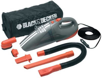 Black & Decker ACV1205 Car Vacuum Cleaner (Grey & Orange)