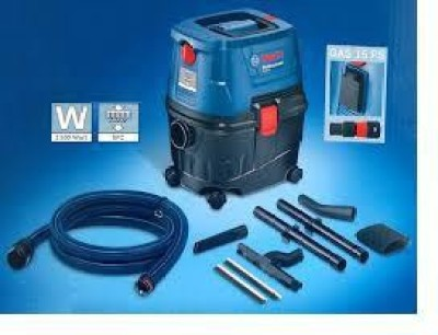 Bosch Gas 15/Gas Ps Wet & Dry Vacuum Cleaner Blue, Black