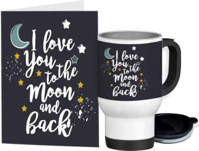 e48cbbdfd8f Tiedribbons Valentine's Day Gifts for Wife Travel Mug(350ml) with Greeting  Card Mug Gift