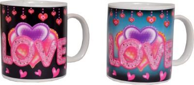 Indigo Creatives Thermal Colour Changing Invigorating Love Mug Mug Gift Set  available at flipkart for Rs.497