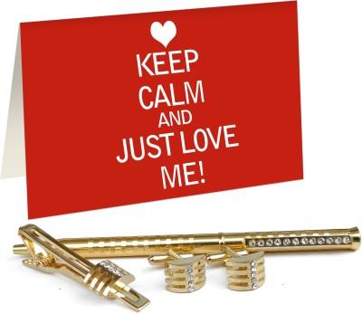 9dcf7a1b326dd Tiedribbons Valentine Special Gifts for Boyfriend Golden Cufflinks