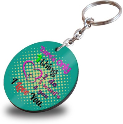 SKY TRENDS There Only One Thing To Do Three Word's For You Wooden Circle Keychain Showpiece Gift Set  available at flipkart for Rs.199