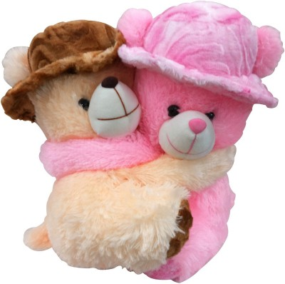 Saugat Traders Romantic Couple Teddy Bear   13.39 Inch Brown, Pink Saugat Traders Soft Toys