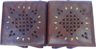 Handicraft SHEESHAM WOOD MADE WELL CARVED JEWELLERY Vanity Box(BROWN)