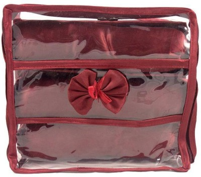 Ermani Export Traditional Maroon Transparent 3 Roll Churi Bangle Care Vanity Box(Maroon)  available at flipkart for Rs.399