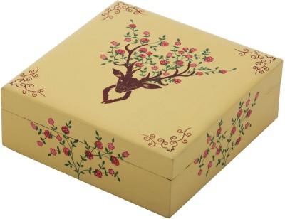 The Crazy Me Deer Pattern Wooden Makeup Vanity Box(Multicolor)