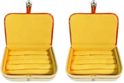 Atorakushon Pack of 2 Brown Ring Organizer Storage Box Vanity Vanity Box(Brown)