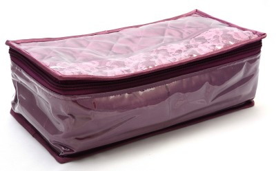 K&P 5 Pouch Majenta Locker Jewellery & Bangle Storage Vanity Box(Majenta)