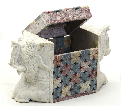Aapno Rajasthan Elephant Shaped Box With Jaali Design Multiutility Vanity Box(Multicolor)