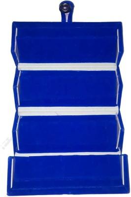 Abhinidi Set of 1 velvet Earring Folder case Jewelry storage travelling Jewellery Vanity Box(Blue)  available at flipkart for Rs.107