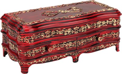 Tuelip Antique RoseWood Classic-2 Jewellery & MakeUp Vanity Box(Red)