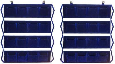 Atorakushon Pack of 2 BigFolder 16 pair Earrings Blue Velvet Folding jewellery Travelling Box Storage Case Vanity Box(Blue)  available at flipkart for Rs.922