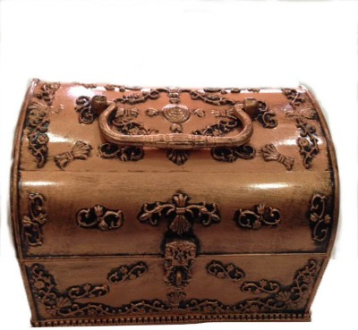 Sogo Mini Pitara Copper stores all types of jewellery, room decor, Storage And Daily Use Vanity Box(Copper)