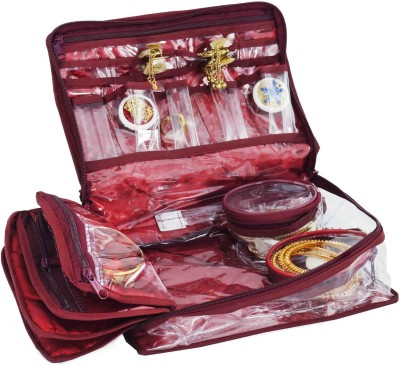 Bahurani Boutique Medium Locker Vanity Box(Maroon)