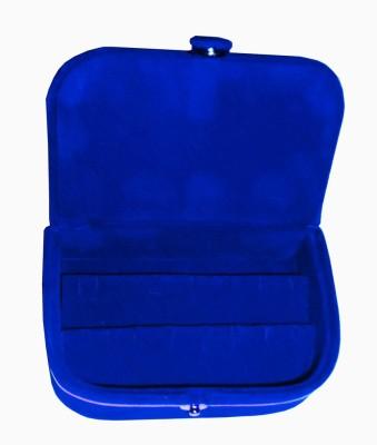 Abhinidi Set of 1 velvet case Earring Jewelry storage travelling folder Jewellery Vanity Box(Blue)  available at flipkart for Rs.107