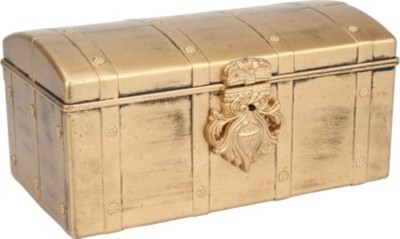 Sogo Senorita Gold stores all types of jewellery, room decor, Storage And Daily Use Vanity Box(Gold)