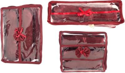 ANNAPURNA SALES Churi/Bangles Case   Set of 3 Pcs. Jewellery Vanity Box Maroon ANNAPURNA SALES Vanity Box