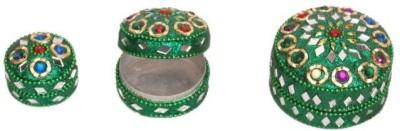 Onlineshoppee Set of 3 Jewellery Box Vanity Box(Green)