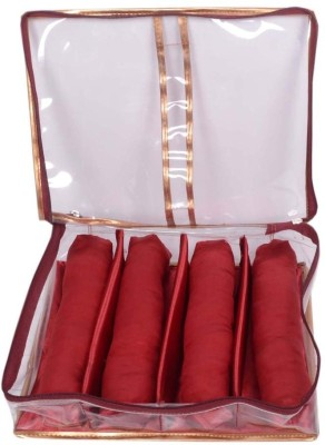 Ermani Export Traditional Maroon Transparent 4 Roll Churi Bangle Care Vanity Box(Red)  available at flipkart for Rs.399