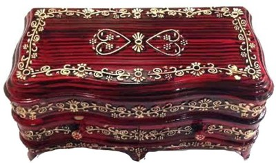 Sogo Classic 2 R Storage And Daily Use, room decor, stores all types of jewellery Vanity Box(Red)