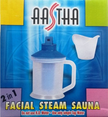 Aastha Steamer Facial Steam Inhaler Facial Sauna For Cold Asthma, 2 In 1 Vaporizer(Blue, White)  available at flipkart for Rs.220