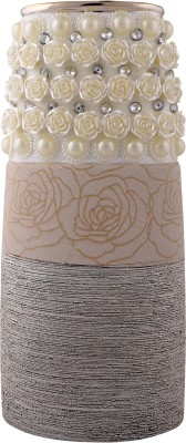 Giftadia Flower Vase-MM4204 Ceramic Vase(12 inch, Multicolor) at flipkart