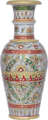 Vaah Marble Stoneware Vase(12 inch, Multicolor) at flipkart