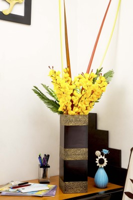 Cocovey Long Rectangular Shaped Wooden Table/ Floor Standing Vase- Perfect for Hall, Bedroom, Office, Bathroom Wooden Vase(16 inch, Brown)  available at flipkart for Rs.1749