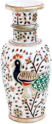 Handicrafts Paradise Marble Stoneware Vase 9 Inch Multicolor 23