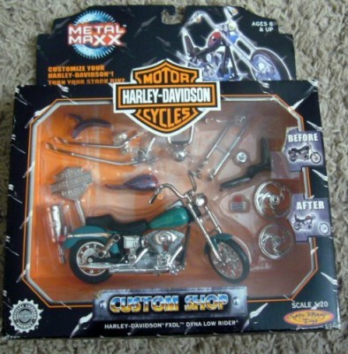 Spin Master Harley Davidson Motor Cycles Metal Maxx Custom Shop 120(Green) Flipkart