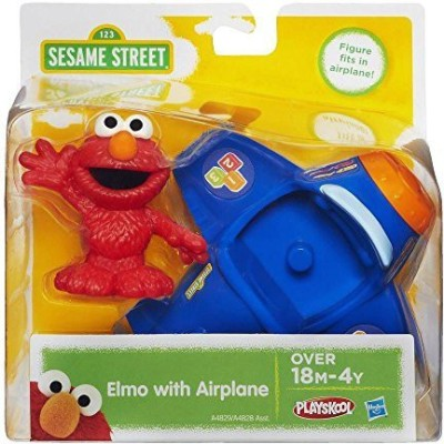 Playskool Sesame Street Elmo With Airplane(Blue)