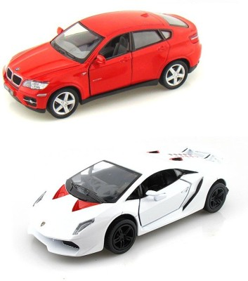Buy I Gadgets Kinsmart Bmw X6 And Lamborghini Sesto Red White On