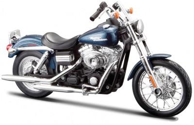 Maisto 2006 Harley Davidson FXDBI Dyna Street Bob - 1:18 Scale Diecast Motorcycle (Blue)