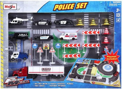 Maisto Maisto Fire Police Fresh Metal Playsets Random Color EduToys