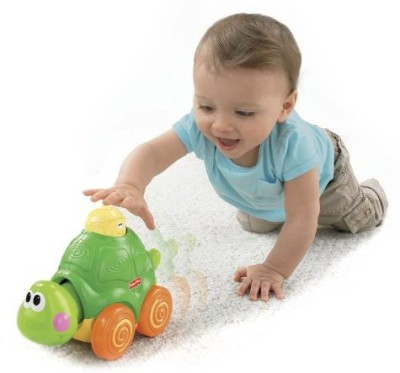 Fisher-Price Go Baby Go! Press And Crawl Turtle(Green)  available at flipkart for Rs.5156