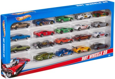 Hot Wheels Mattel H7045 Hot Wheels 20 Car Gift Pack  Colors and Designs May Vary  Multicolor Hot Wheels Push   Pull Along